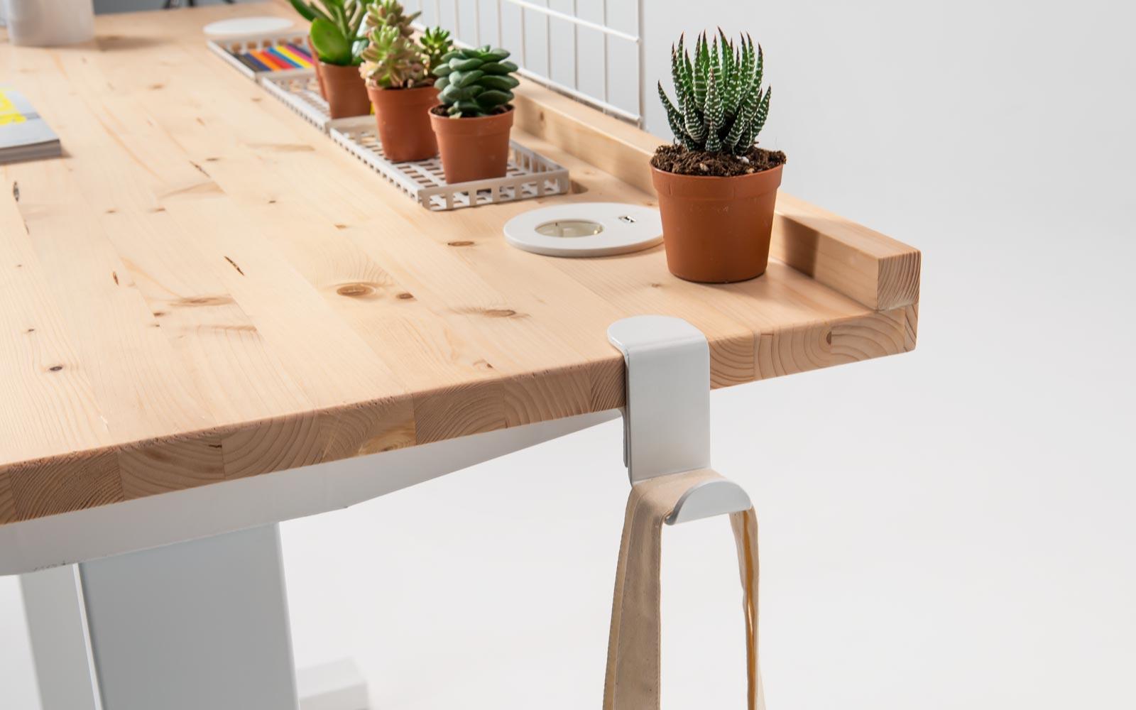 Standing desk - Gancio portaborse da tavolo
